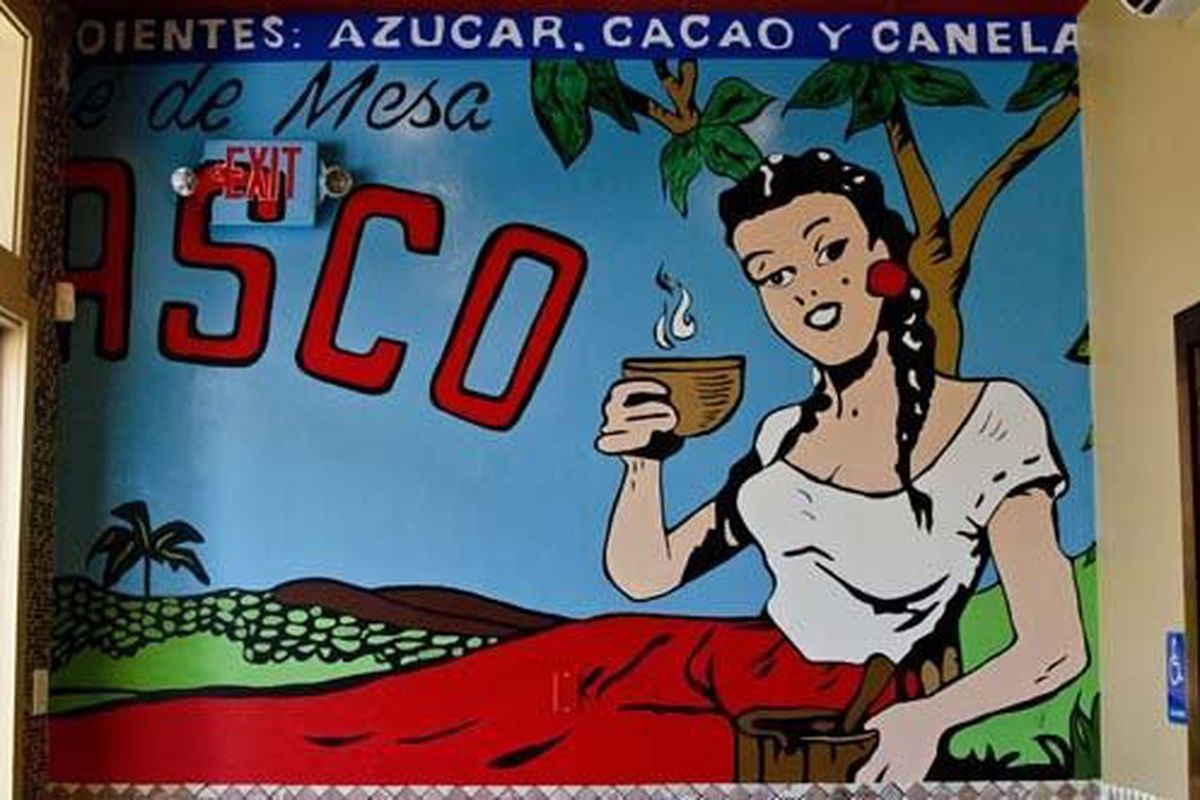 Mural painted by Cafe Burrito owner James Bramante
