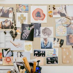 Our moodboard is something we're constantly updating with lookbook images and inspiration for collections we're currently working on.
