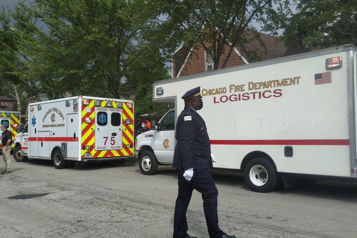 Five people were expected to recover after suffering from extreme heat Thursday during the funeral for Chicago police Office Ella French.