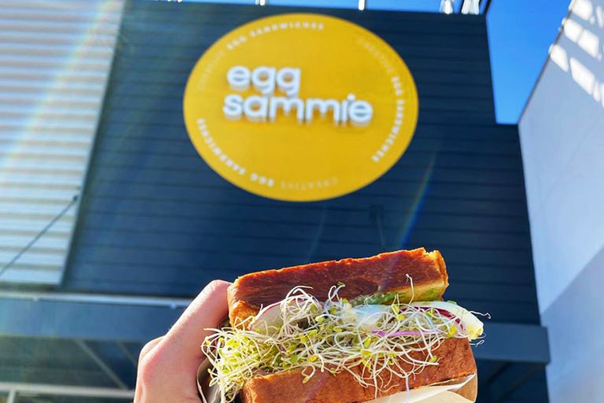 """The """"Avocado Smash"""" sandwich at breakfast and brunch concept Egg Sammie, opening soon in the southwest."""
