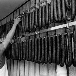 Sobczak's Sausage shop in Avondale.   Sun-Times Archives