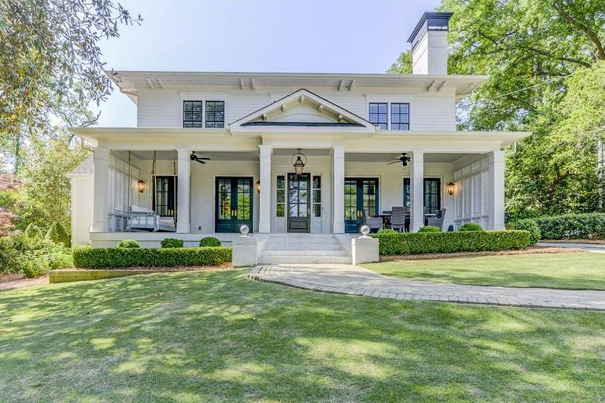 A dazzling older home for sale in Buckhead Atlanta near Memorial Park.