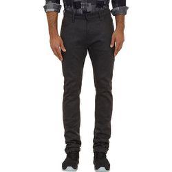 Stacked Guy — Black-Weft Denim Jeans, $205