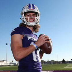 2017 Deseret News Mr. Football, Lehi quarterback Cammon Cooper, in Lehi on Tuesday, Dec. 5, 2017.