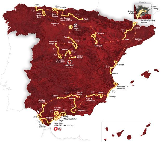 Vuelta Route Map