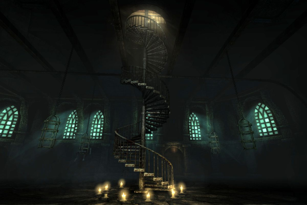 A spiral staircase from Amnesia: The Dark Descent