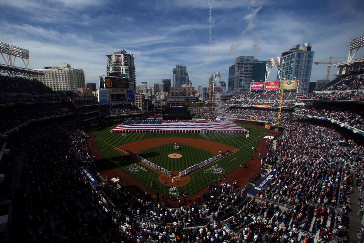 A general view of Petco Park, future home of San Diego Padres outfield prospect Jaff Decker (Photo by Donald Miralle/Getty Images)