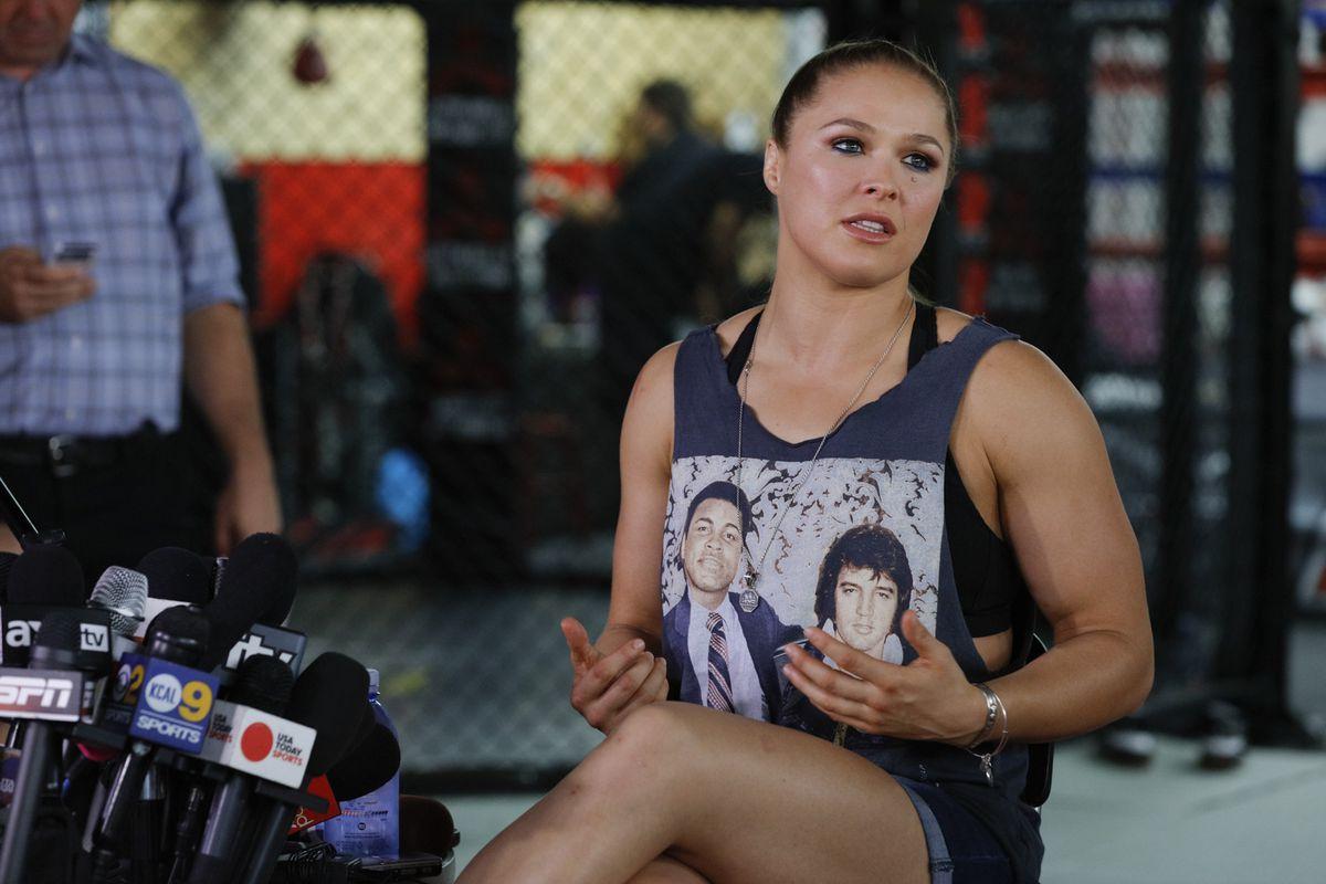 Ronda Rousey UFC 193 Media Day
