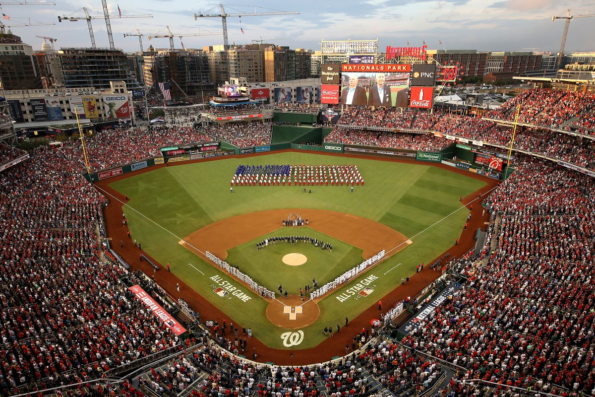 9118fa97 89th MLB All-Star Game, presented by Mastercard An overhead view of  Nationals Park ...