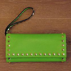 Valentino neon green clutch, $795