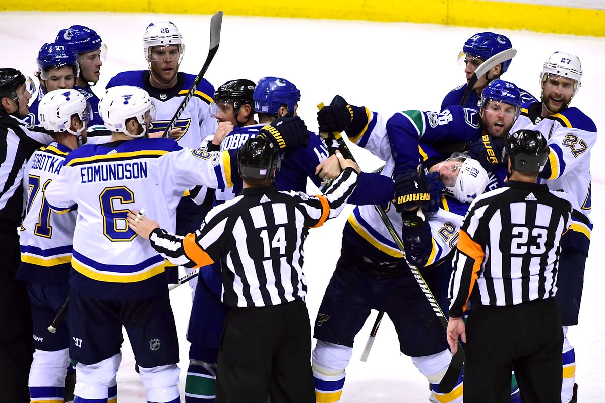 0afaaef33 Canucks Defeat Blues 4-2 - Refs Decide Otherwise - Nucks Misconduct