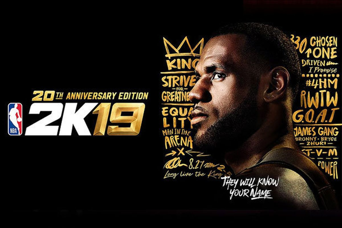 on sale db30d fa2ed LeBron James featured on the cover of NBA 2K19 - Fear The Sword