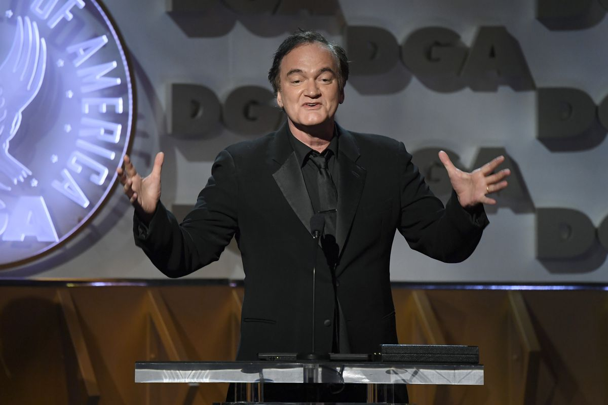 Feature Film Nominee for 'Once Upon a Time in Hollywood' Quentin Tarantino speaks onstage during the 72nd Annual Directors Guild Of America Awards at The Ritz Carlton on January 25, 2020 in Los Angeles, California.