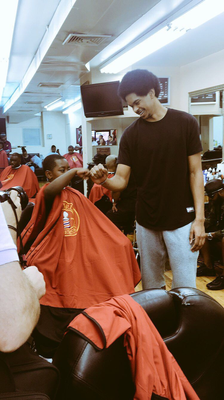 Take Care Cut Ya Hair Jarrett Allen Hosts Back To School Haircuts