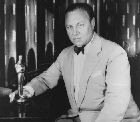 German actor Emil Jannings with his Oscar.