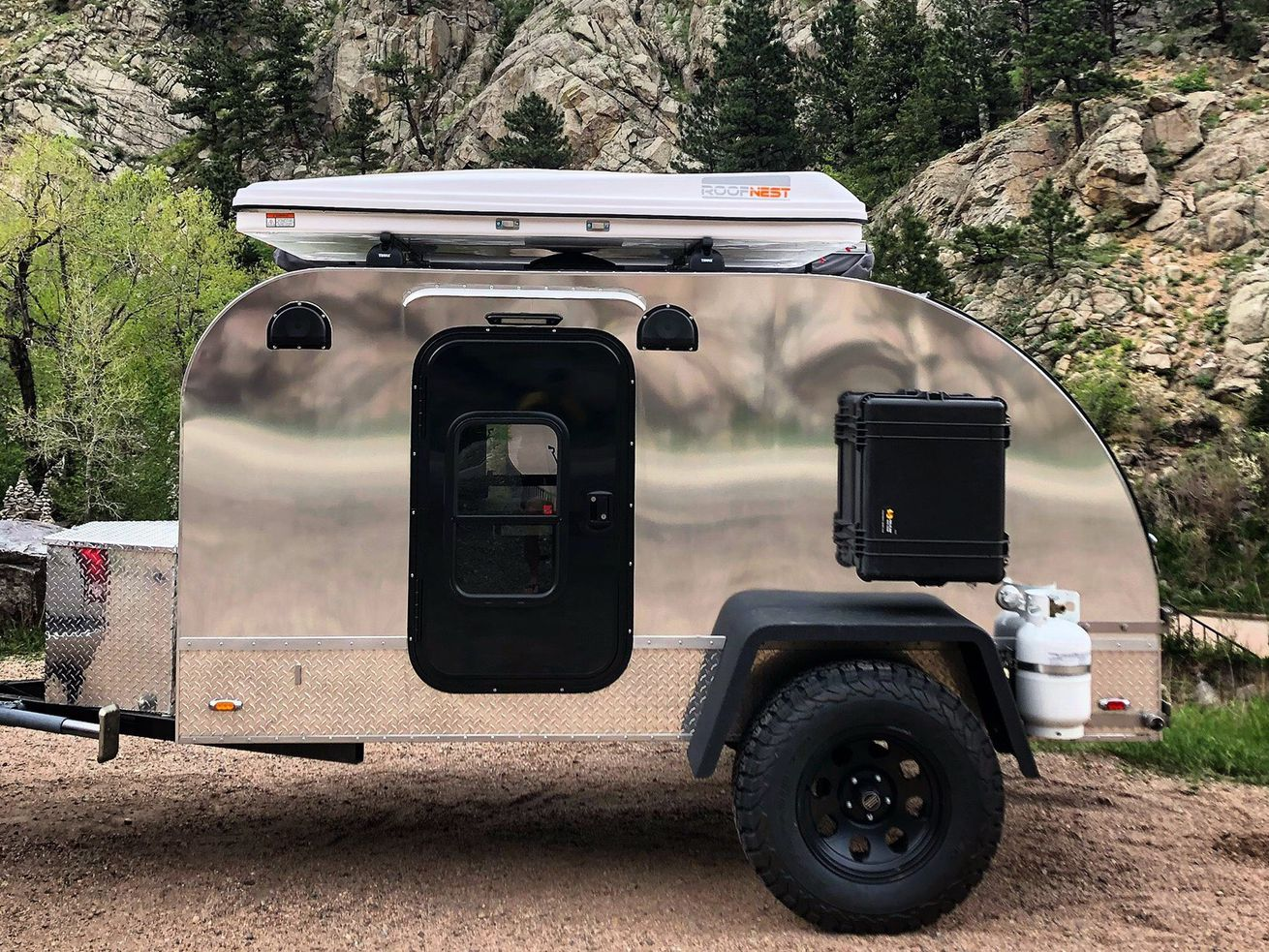 The Summit by Colorado Teardrops boasts a unique interior cabin that includes a bunkbed for kids.