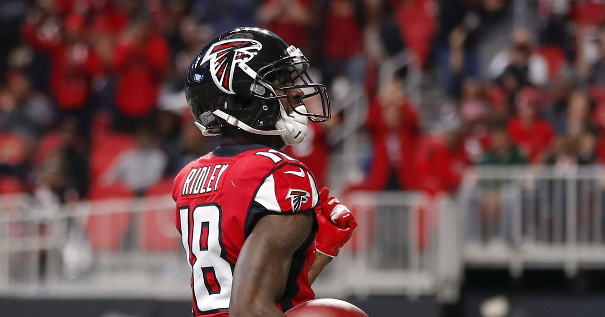 Calvin Ridley carted off, ruled out after injury in Panthers vs. Falcons