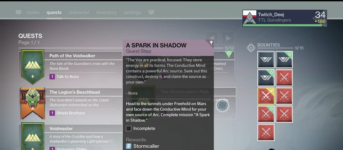 destiny the taken king quests and bounties