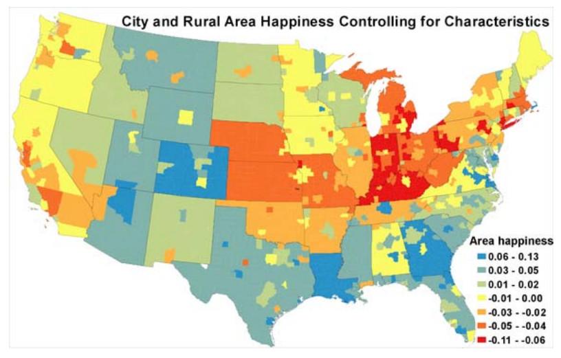 Happiness demographics adjusted