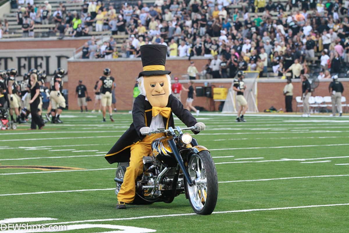 The Deacon on his bike