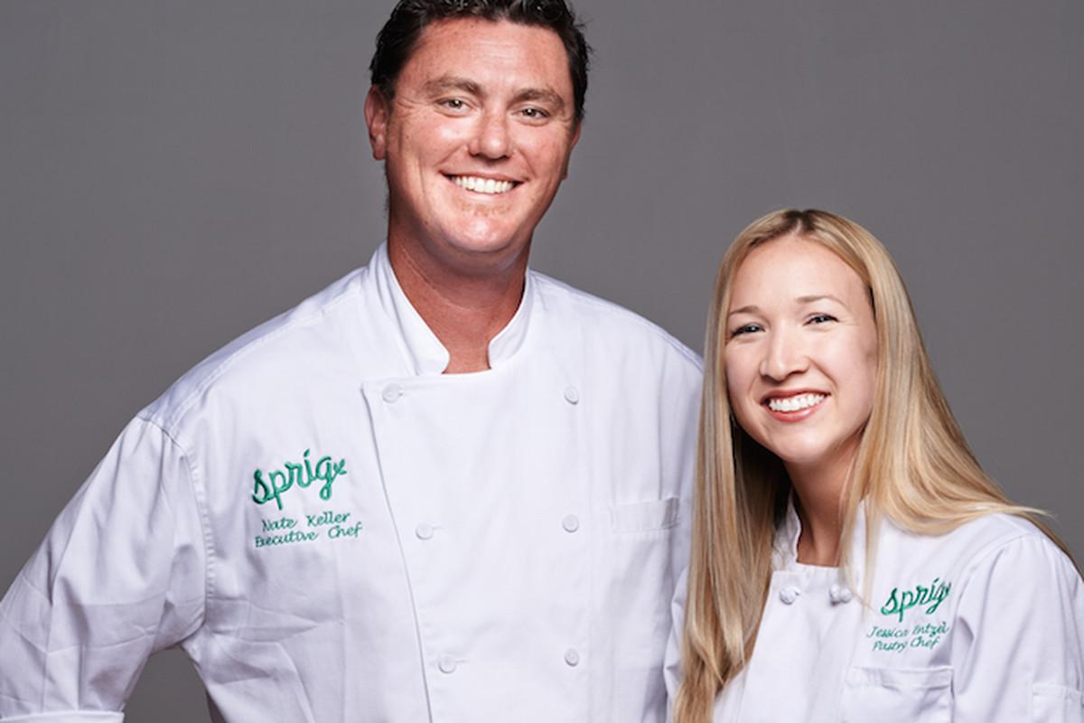 Sprig chefs Keller and Entzel.