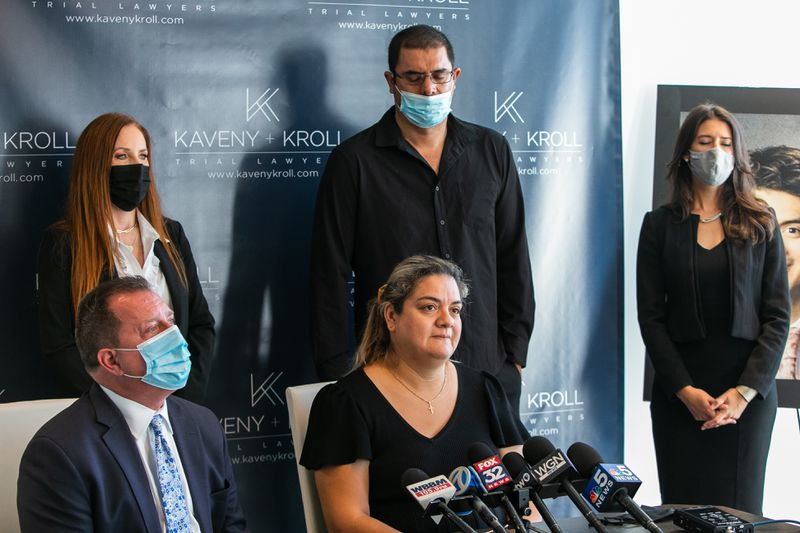 Maria Diaz talks about her lawsuit against the Chicago Parks District over the drowning of her son, Miguel Cisneros.