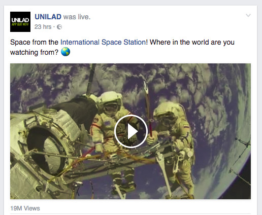 Viral Facebook pages are passing off old space clips as live footage