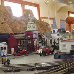 The O-scale Lionel train set up straight out of the early 1900s is seen here at the new railroad museum in Kingman, Ariz., on Sept. 10, 2012. After a decade of dreaming and two years of organizing, the members of the Whistle Stop Railroad Club will open their museum Saturday.