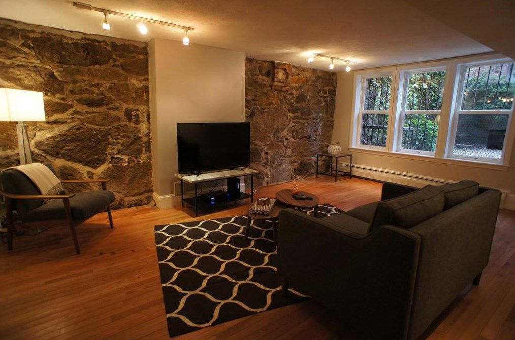 Another shot of the living room, with the windows now in the background.