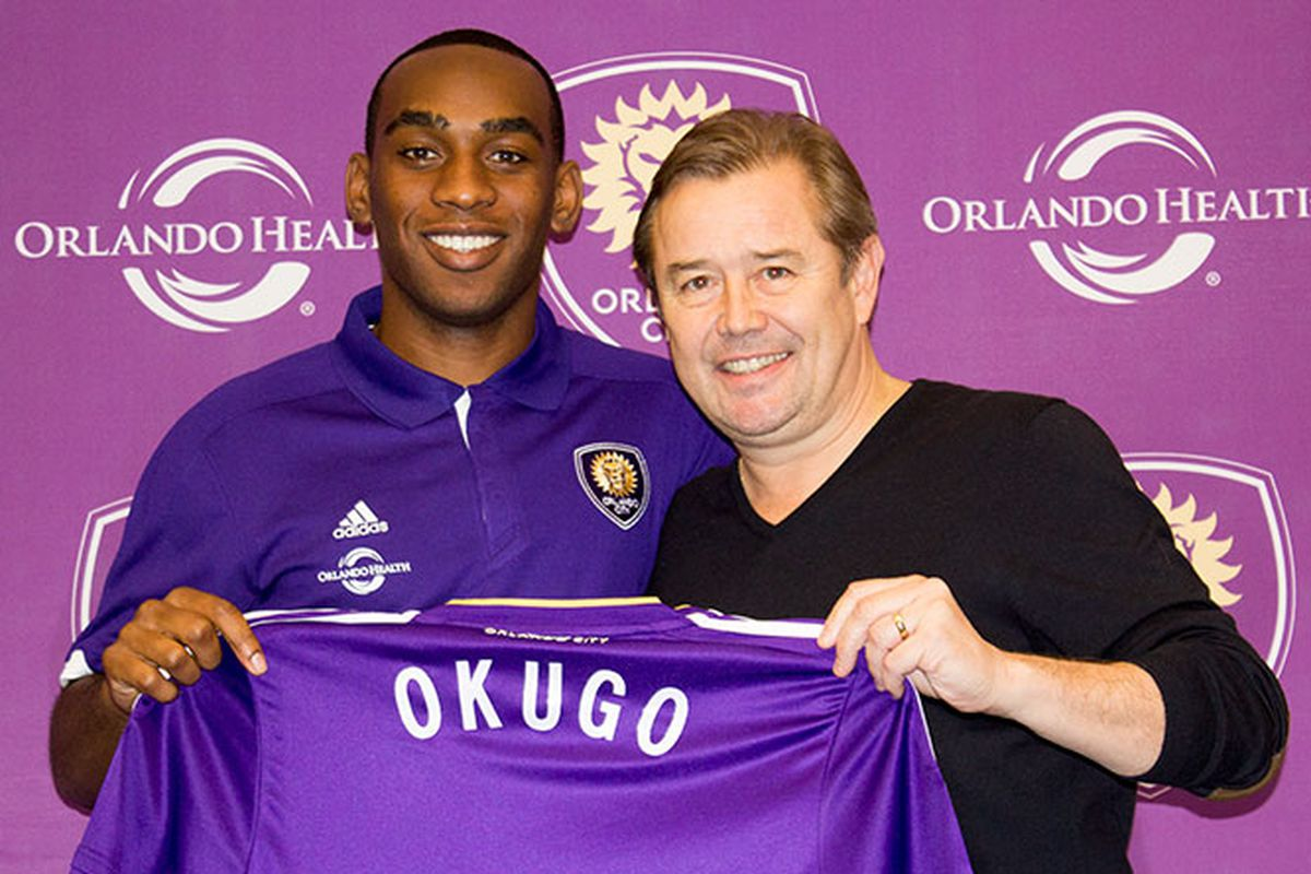 Okugo with Coach Adrian Heath