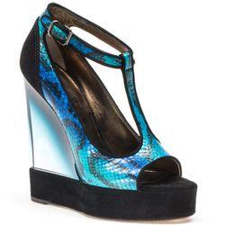 "<b>Lanvin</b> Wedge Salome Sandal, <a href=""http://www.lanvin.com/e-lanvin/US//women/shoes/wedge-salome-sandal-21938.html?color=Electrical%20Blue/Black&colorid=571"">$1,985</a>"