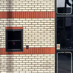 You can see a peep show at the former take out window.