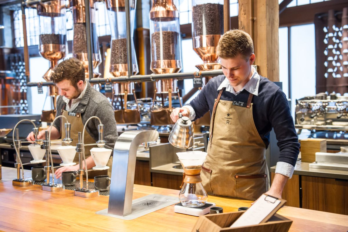 Michigan s first fancy starbucks reserve bar opens in for Food bar bham