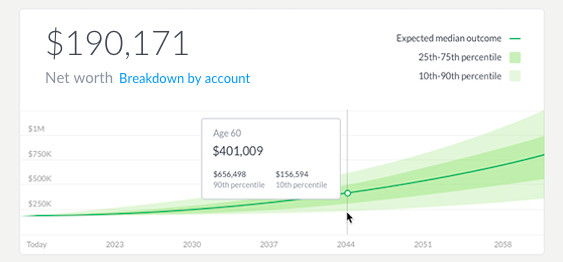 A screenshot of the new Wealthfront dashboard