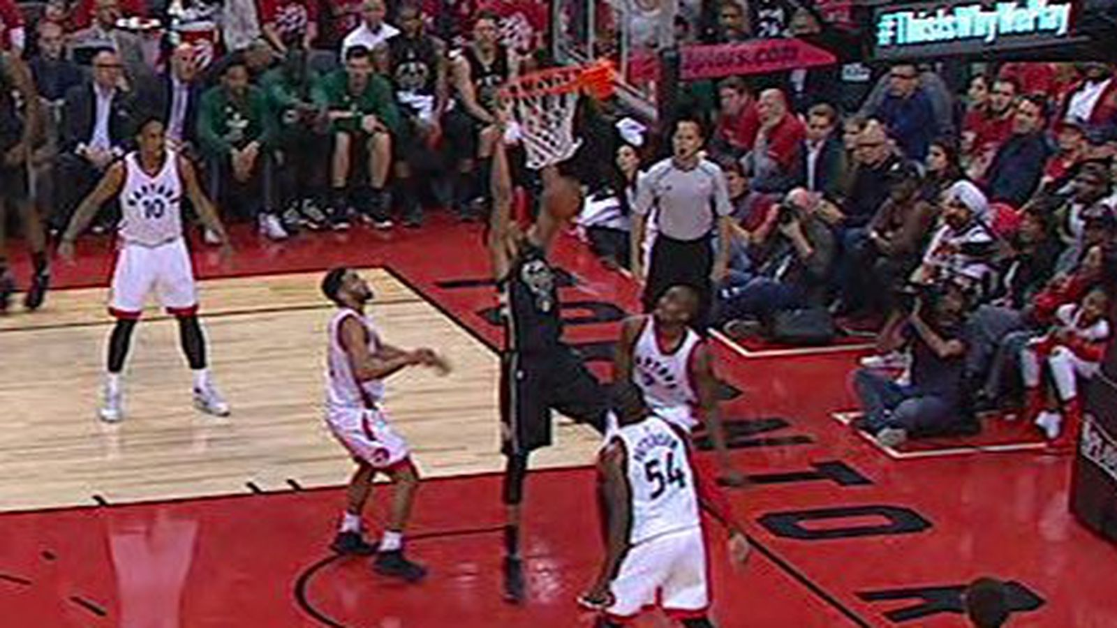 Here S A Photo Of Giannis Antetokounmpo Touching Rim And