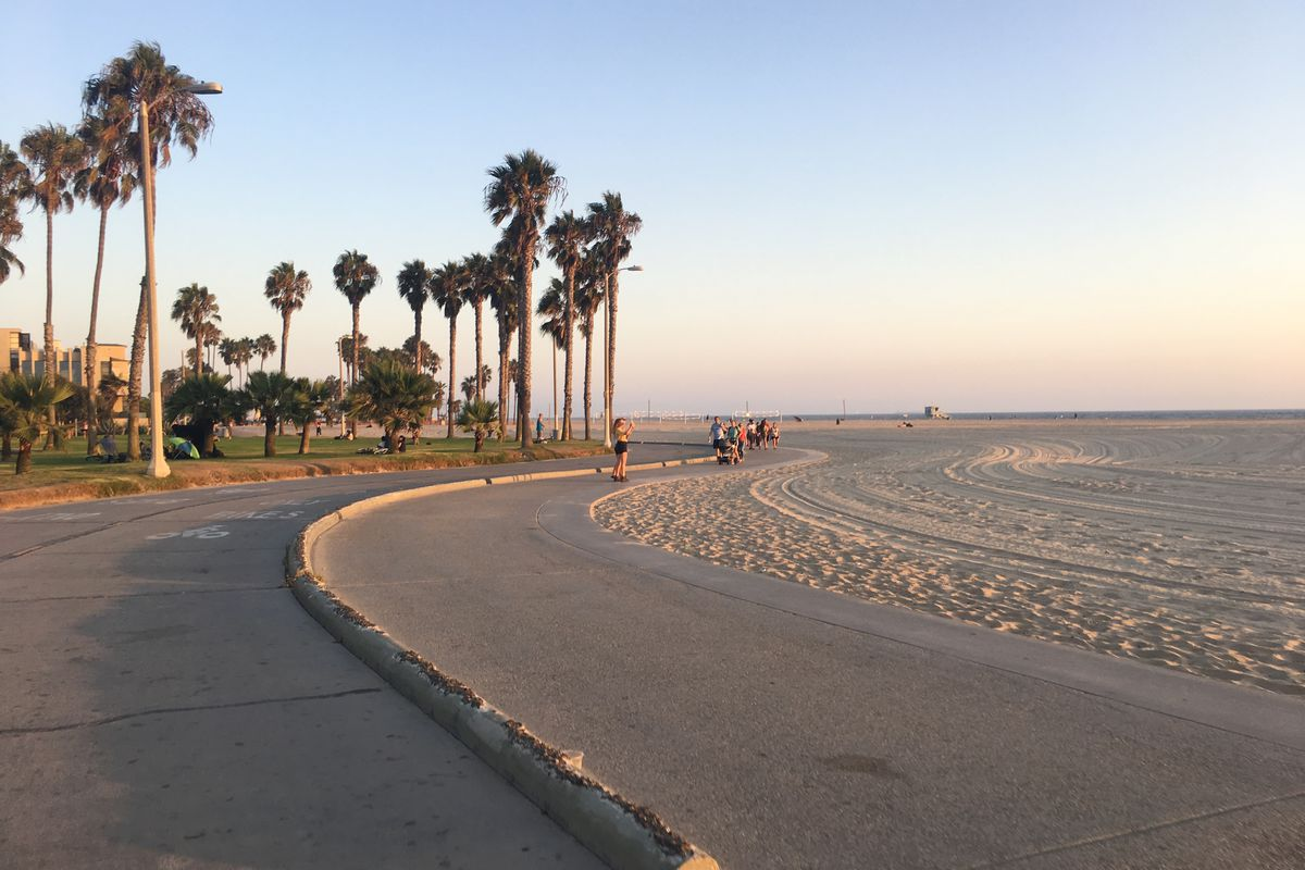 Image result for la biking on the beach