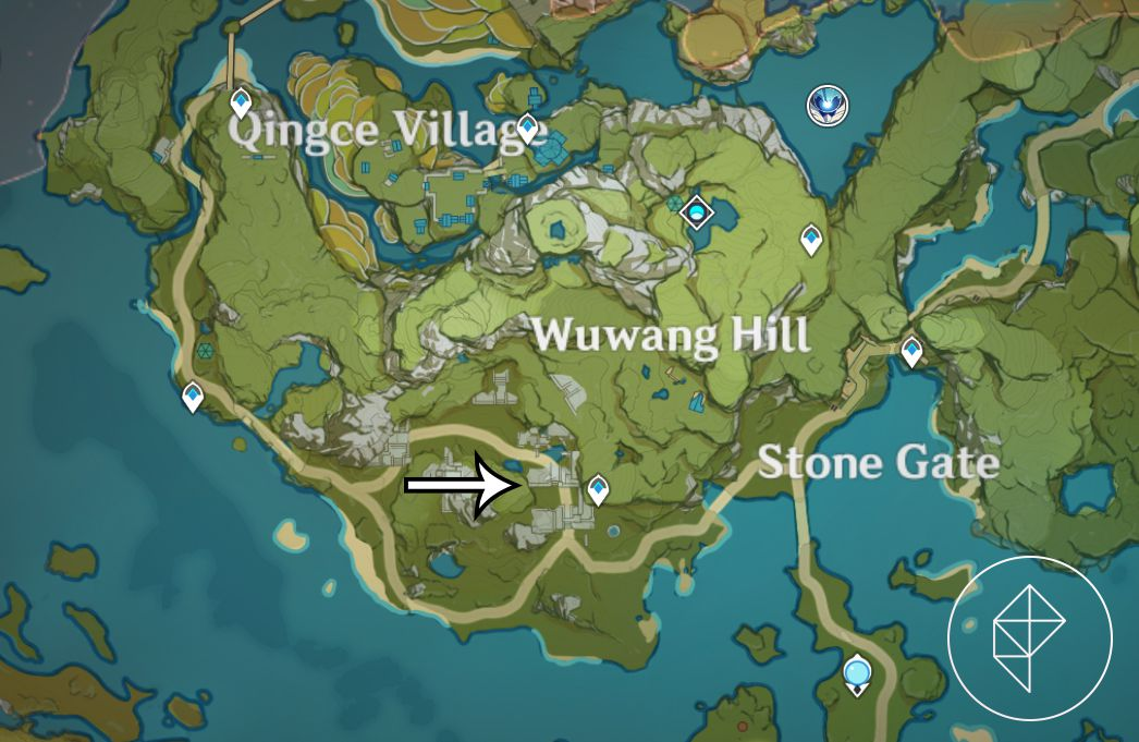 The starting location for The Chi of Guyun sidequest