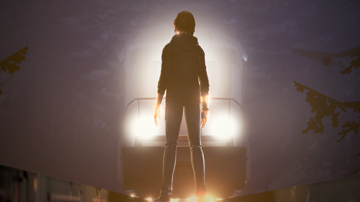 Life is Strange: Before the Storm - Chloe standing in front of a train