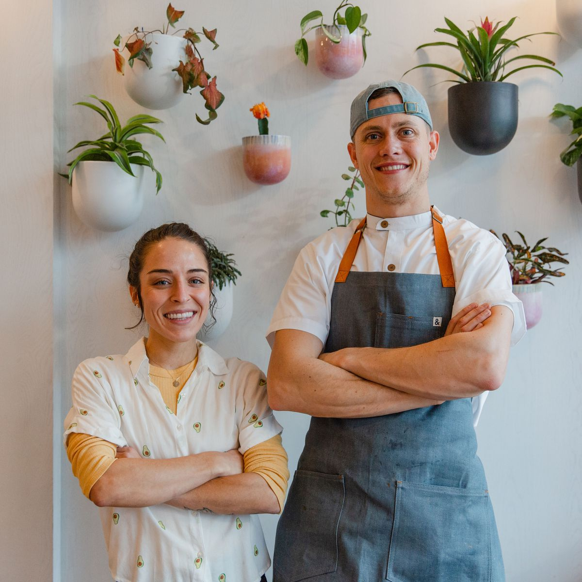Sophia Marchese and Reid Trapani, owners of Happy Seed and La Semilla.