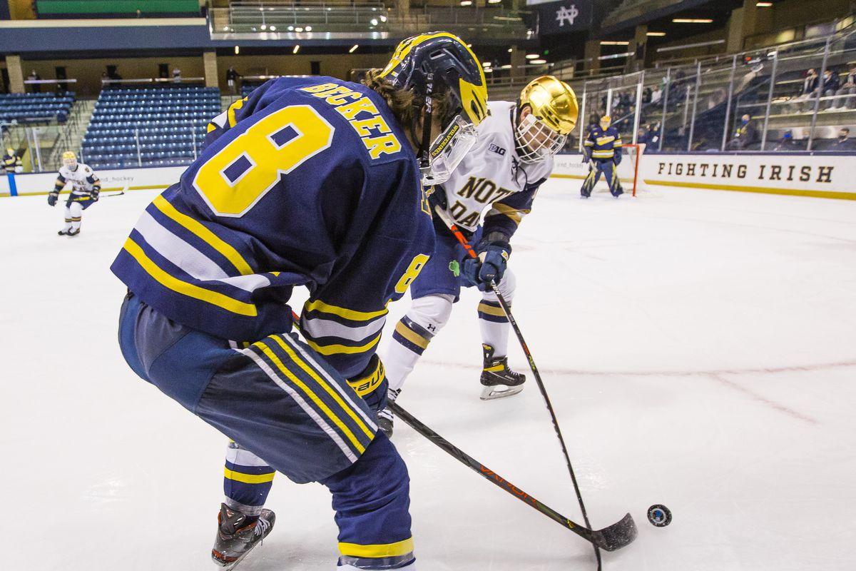 NCAA Hockey: Michigan at Notre Dame