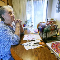 Betty Newbold sits at her kitchen table and talks about growing old and her feelings on being alone on Wednesday, Feb. 22, 2017.