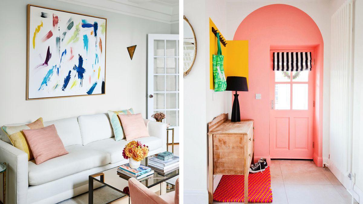 Spring 2021, Designer Q&A, (left) living room, (right) entryway