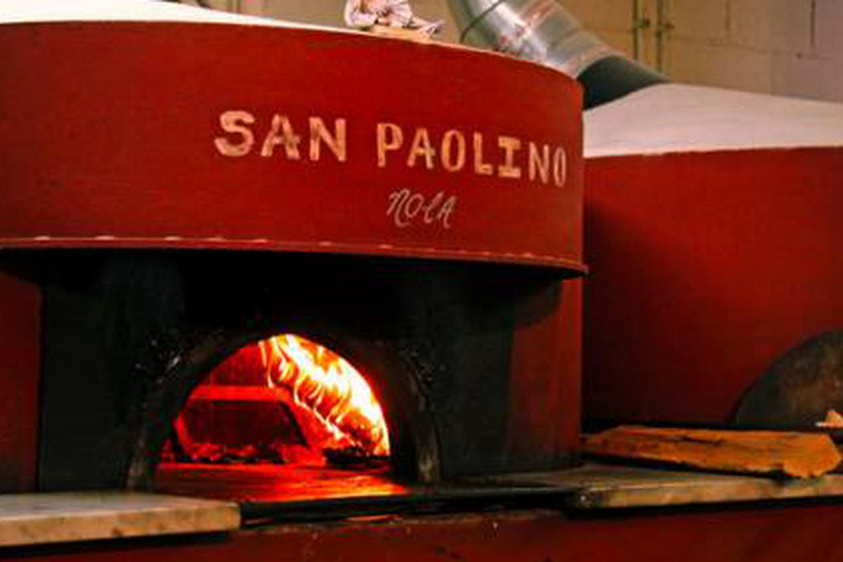 A woodfire oven at Antico.