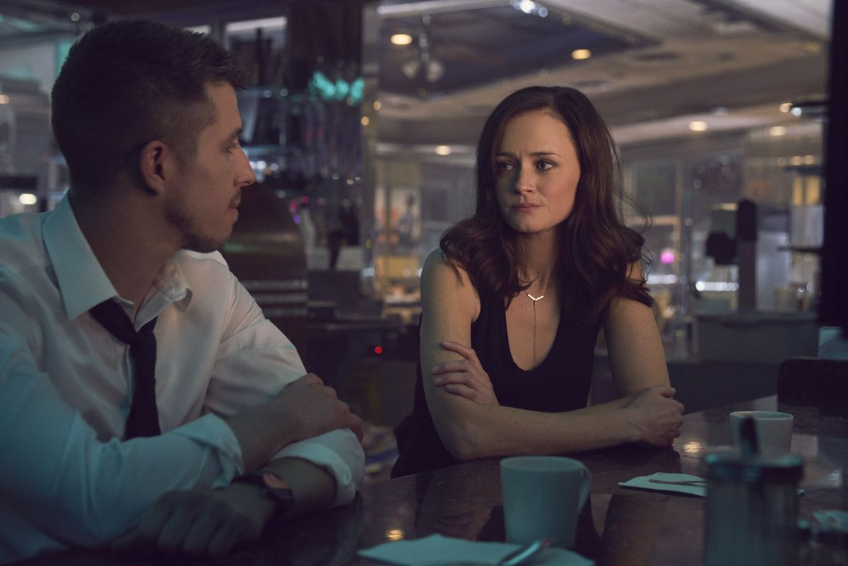 """Katie (Alexis Bledel) spends a non-singing moment with Martin (Beau Knapp) in """"Crypto."""" 