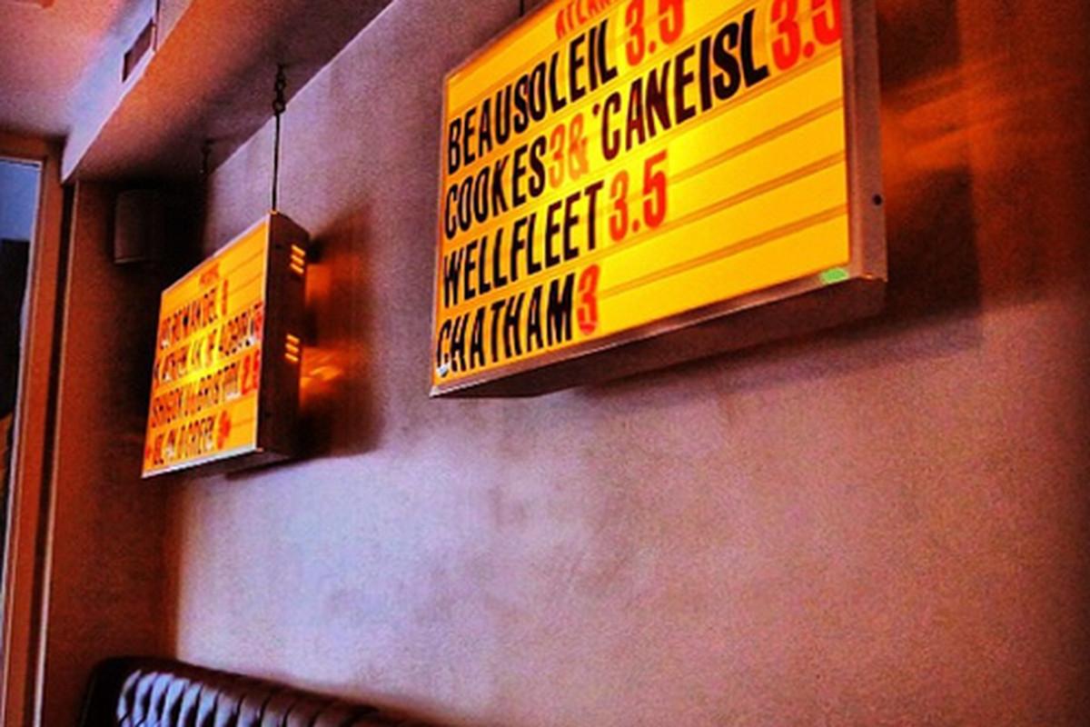 Inside L&E Oyster Bar, Silver Lake.