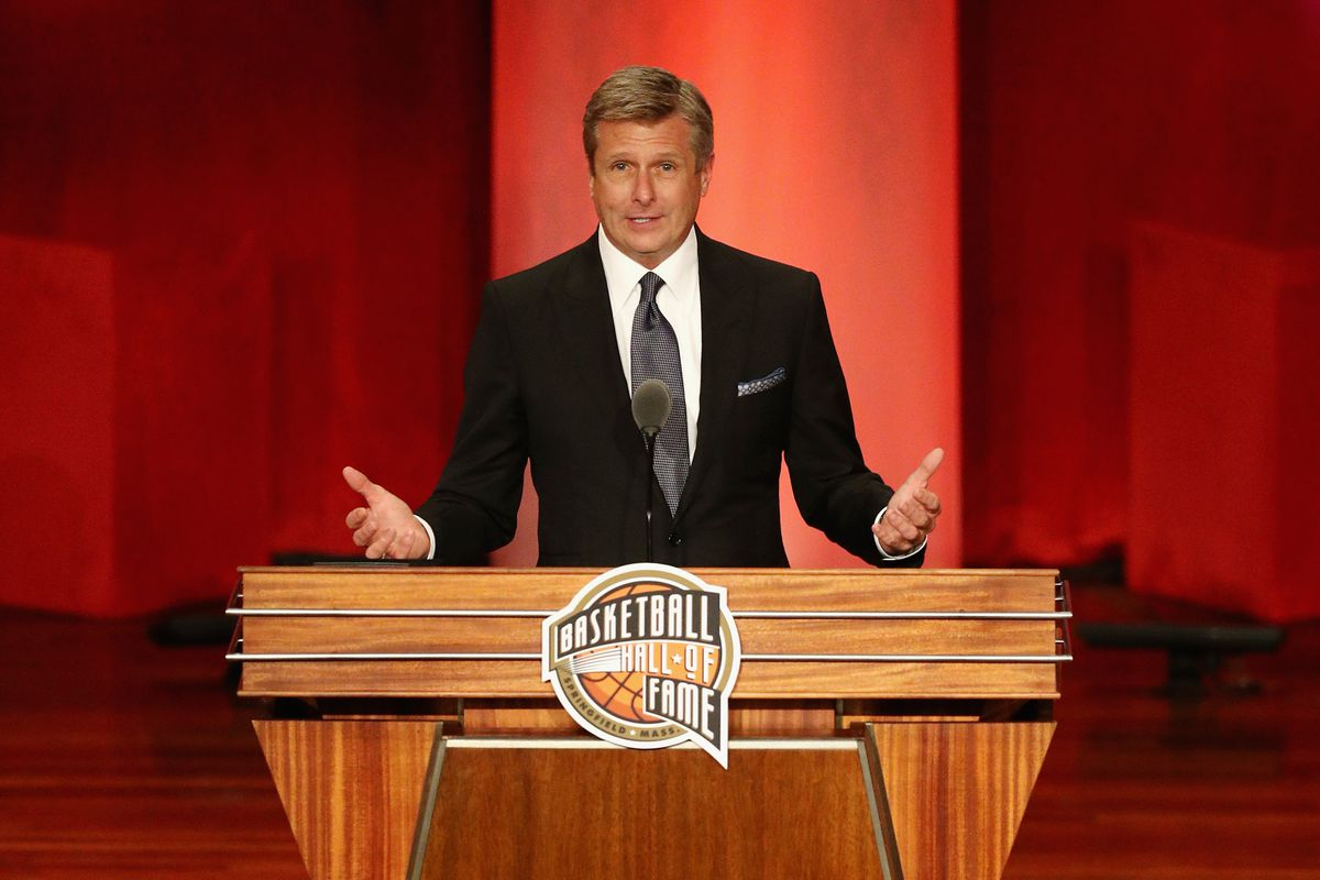 Rick Welts Speaks At His Induction This Year At The Naismith Memorial Basketball Hall Of Fame Photo By Maddie Meyer Getty Images