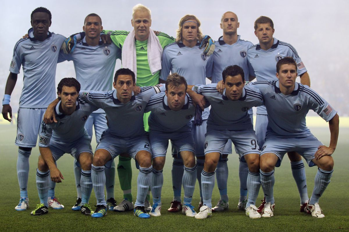 KANSAS CITY, KS - JUNE 09:  Sporting Kansas City poses for a team photo prior to the innaugural game against the Chicago Fire at LiveStrong Sporting Park on June 9, 2011 in Kansas City, Kansas.  (Photo by Jamie Squire/Getty Images)