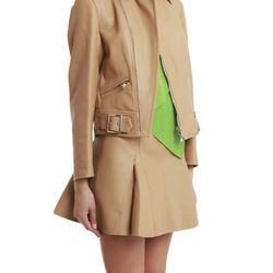 """Sculpted motorcycle jacket with shirt collar, $550 via <a href=""""http://www.lyst.com/clothing/31-phillip-lim-motorcycle-jacket-with-shirt-collar-nude/""""> Lyst </a>"""