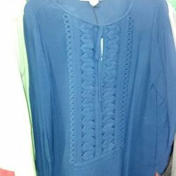 Embroidered tunic, $90