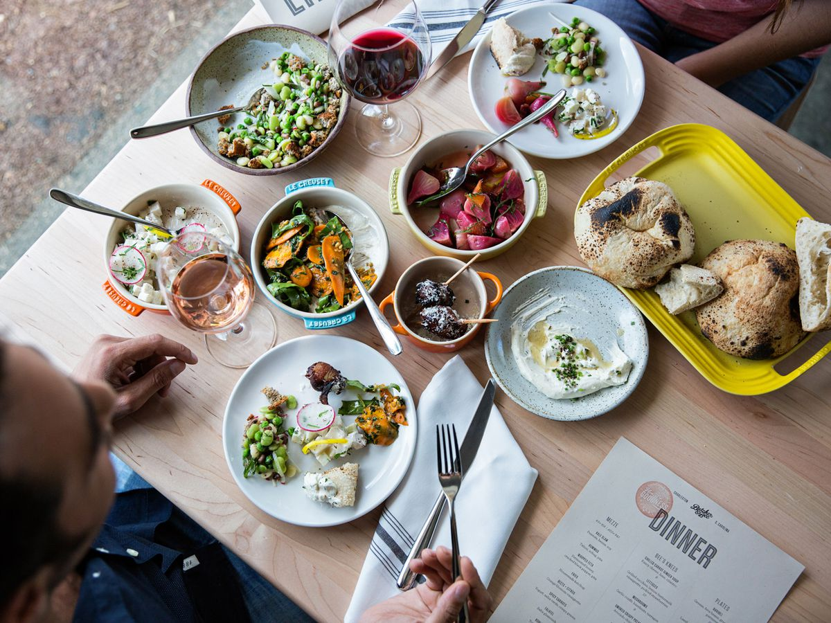 Mezze Spread At Butcher Bee Andrew Cebulka While Most Charleston Restaurants Can Offer Vegetarian